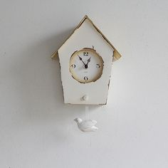 Bird house clock Kabekake/ バードハウスクロック 壁掛け