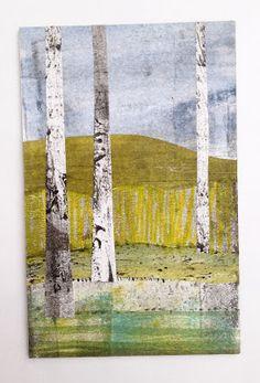 Dudley Redhead: Monotone, monoprint, gelli plate