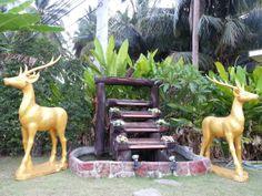 Golden deers Foam Carving, Sculptures