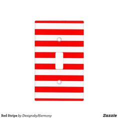 Red Stripe Light Switch Cover