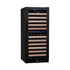 KingsBottle - 106-Bottle Built-In Wine Cooler - Black