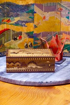 Vintage Late Victorian   Early Art Deco Japanese Wooden