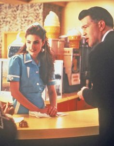 Shelly Johnson (Madchen Amick) & FBI Regional Bureau Chief, Gordon Cole (David Lynch), in Twin Peaks
