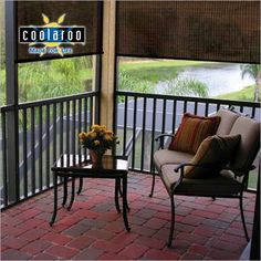 Coolaroo Solar Outdoor Shades Blinds Com Outdoor Blinds Outdoor Curtains Bamboo Outdoor