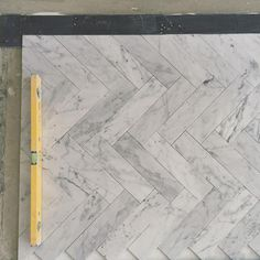 So today was pretty epic - we started laying some tiles in one of the bathrooms in some of the most beautiful natural stone we've ever seen. Here's a sneak peek of the marble herringbone floors in Statuario, bordered by the black Nero Marquina. What's going on the walls? You'll have to wait and see!   www.brickbybrick.com.au | www.facebook.com.au/BrickByBrickProject  #marble #statuario #neromarquina #tileporn #herringbone #naturalbeauty #stone #tiling