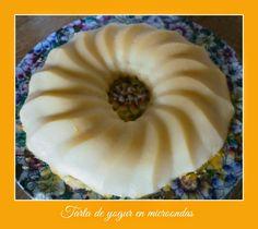 tarta de yogur en microondas