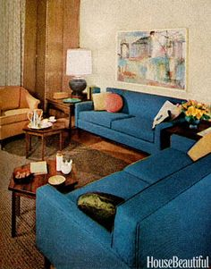 1960s Furniture Styles Pictures - Interior Design from the 1960s - House Beautiful