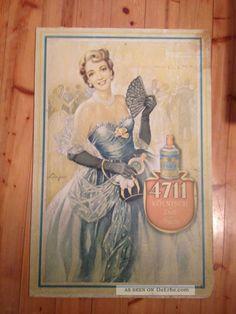 4711 Plakat Aus Den 50ern,  Auf Karton Gezogen 1950-1959 Bild