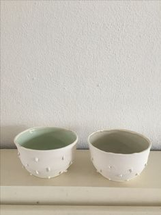 Personal work, handmade, little porselain bowls, structure outside