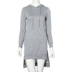 Double Split Long Sleeve Pullover Hoodies sweatshirts For Women