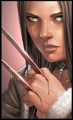 X-23, clonada a partir de uma cópia danificada do genoma do Wolverine, foi criada para ser a máquina de matar perfeita. Durante anos, ela revelou-se uma assassina fria e notável. Apesar de uma série de tragédias, ela foi ao encontro de Wolverine e dos X-Men, com quem ela agora começou a mudar de vida. #Xmen #Marvel