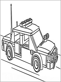 Lego Police Coloring Pages 5