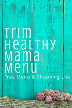 Free, simple THM meal plan with shopping list! This free printable pack is a total lifesaver! THM menu planning done for you ftw!
