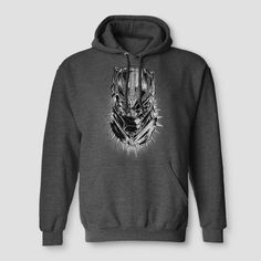 1b07560a4d Men s Marvel Black Panther Hooded Pullover Sweater - Black Ember Heather S