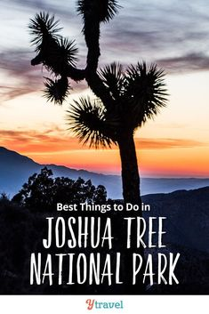 8 best things to do in Joshua Tree National Park.  Your complete vacation planning guide - including tips on how to get there, where to stay RVing and camping, hiking trails, scenic drives, and more! This is one of the top National Parks in California and a great road trip destination for those that love the desert and hiking trails. See all the details! #JoshuaTreeNationalPark #California #NationalPark #nationalparks #roadtrip #roadtrips #familytravel #travel #traveltips