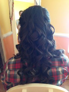 Prom hair! all down curly