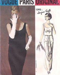 1960s Vogue 1392 Paris Original Evening Gown by ALadiesShop, $95.00 #60s #retro #vintage