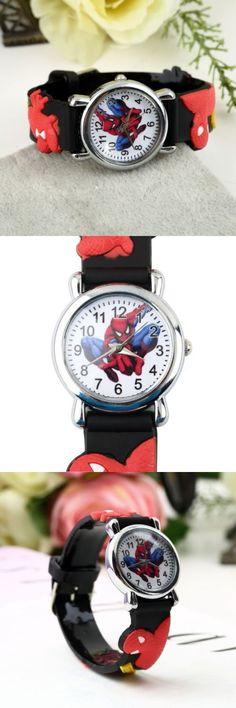 RioRand® Marvel Cartoon Child Boys Kids Analog Quartz Wrist Watch Rubber