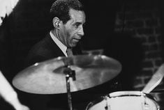 American jazz percussionist, drummer, and composer Max Roach (Maxwell Lemuel Roach) (1924 - 2007) performs at the 'Blues Alley' club, Washington DC, 1981.