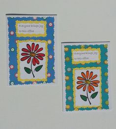 Joy To Office Handmade Greeting Cards by DebsDooDadsShop on Etsy