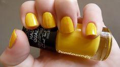 swatch nail polish yellow miss europe