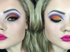 Tutorial maquiagem cut crease sunset matte para palpebras gordinhas - YouTube