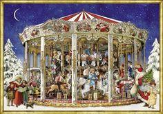 Nostalgic-Christmas-Carousel-A4-Traditional-Card-Advent-Calendar