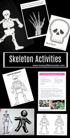 Learn about the human skeleton with this collection of easy and fun human skeleton activities for kids!