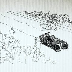 Vanderbilt cup. Bugatti. Handmade drawing #bugatti #cars #car...