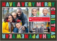 Merry All Around 5x7 Stationery Card by Yours Truly | Shutterfly