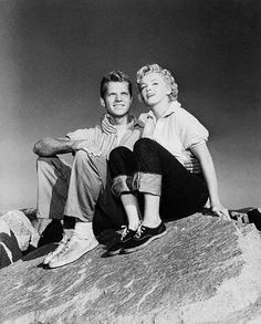Marilyn Monroe and Keith Andes in a publicity photo for Clash by Night, 1952.