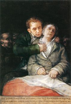 Goya at the age of 74, Self-portrait with Doctor Arrieta, 1820, Minneapolis.