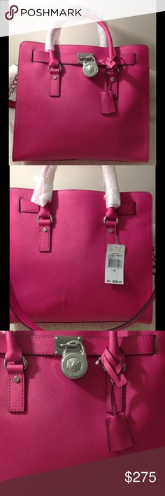 Michael Kors Hamilton Michael Hamilton Raspberry pink! Silver hardware! Bag is new with tags! Trades only to selective people, and friends only! No trades no exceptions! Michael Kors Bags Totes