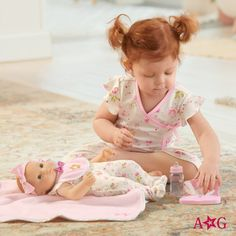 Get your little one ready for a full day of caring for Bitty Baby®! Baby Dolls For Toddlers, Baby Doll Accessories, All American Girl, Our Generation Dolls, Baby Learning, Bitty Baby, Girl Online, Small Groups, Bedtime