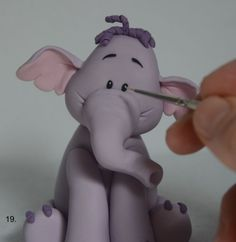 Today we will learn how to make the little elephant friend of Winnie the Pooh, Lumpy. Hope you'll enjoy this polymer clay Lumpy elephant tutorial as much as Polymer Clay Elephant, Polymer Clay Fish, Polymer Clay Miniatures, Little Elephant, Baby Elephant, Design Your Own Cake, Clay Fox, Fondant, Safari Cakes