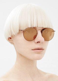 Maison Martin Margiela Mykita Round Wire Sunglasses (Copper)