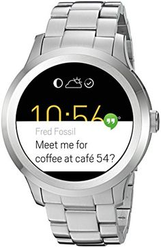 Women's Smartwatches - Fossil Q Founder Gen 2 Touchscreen Silver Stainless Steel Smartwatch >>> You can find out more details at the link of the image. (This is an Amazon affiliate link)