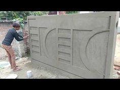 Front Wall Tiles Design, House Front Wall Design, Fence Wall Design, House Balcony Design, House Outer Design, Single Floor House Design, Exterior Wall Design, Stone Wall Design, Pop Ceiling Design