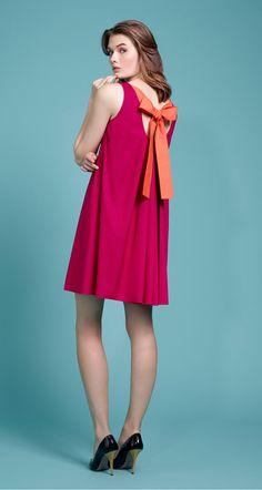 Robe trapèze en popeline de coton - Les robes - Automne 2015 - Nouvelle Collection
