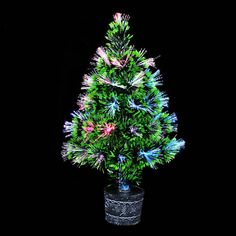 Colorful Fiber Optic Christmas Tree Home Garden Pub Decor Branch made of high quality PVC Green in colour Easy and quick assemble, only takes 10-15 mins to set up Be the envy of your friends and family with this realistic looking Christmas tree! This...
