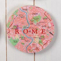 Bespoke Map Circle Wall Art - New