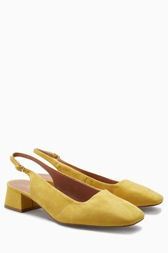 Buy Ochre Square Toe Slingback Court Shoes from the Next UK online shop