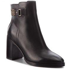 a328f81d28 Magasított cipő TOMMY HILFIGER - Th Buckle Heeled Boo FW0FW03627 Black 990
