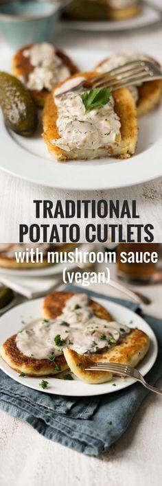 Kartoffelschnitzel mit sahniger Pilzsauce Über @ annabanana.co