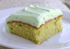 Pistachio cake- easy to follow recipe with a handful of ingredients. Serve chilled. YUM!