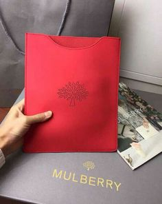 Mulberry Spring/Summer 2015 Cruise Outlet UK-Mulberry Blossom iPad Sleeve in Hibiscus Calf Leather