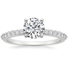 The Petite Shared Prong Diamond Ring #BrilliantEarth