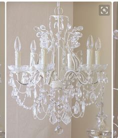 Classic shabby chic chandelier you can do it yourself by finding an this timeless vintage inspired chandelier has been painted a beautiful antique white and features gorgeous dupioni silk pink shades trimmed with sweet aloadofball Gallery