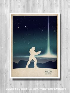 Master Chief poster inspired by Halo video game by PosterInvasion