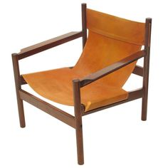 Michael Arnoult Brazilian Leather Sling Chair | From a unique collection of antique and modern armchairs at http://www.1stdibs.com/furniture/seating/armchairs/